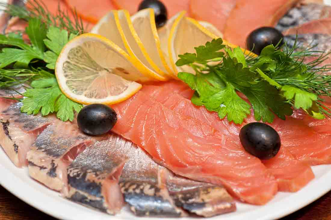 Foods for weight gain - fish