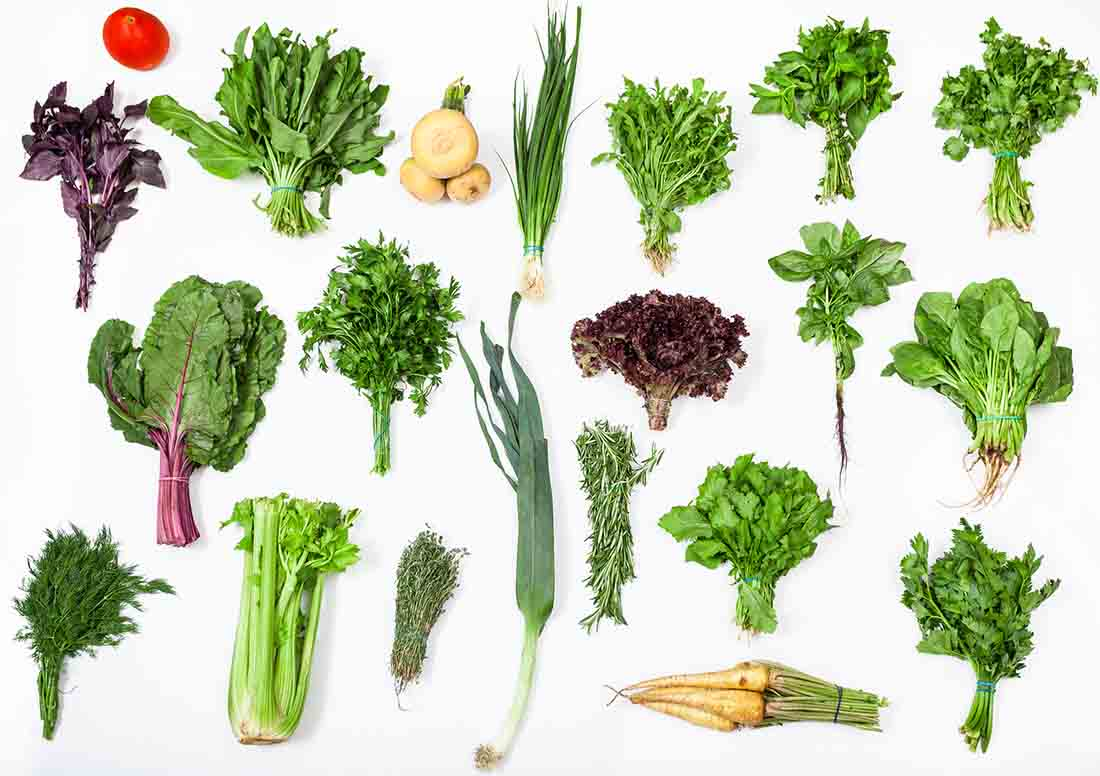 Weight gain diet - collection of healthy vegetables
