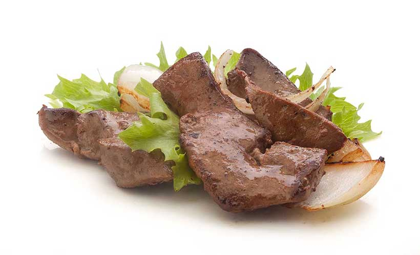 Picture of liver - a food rich in vitamin A.