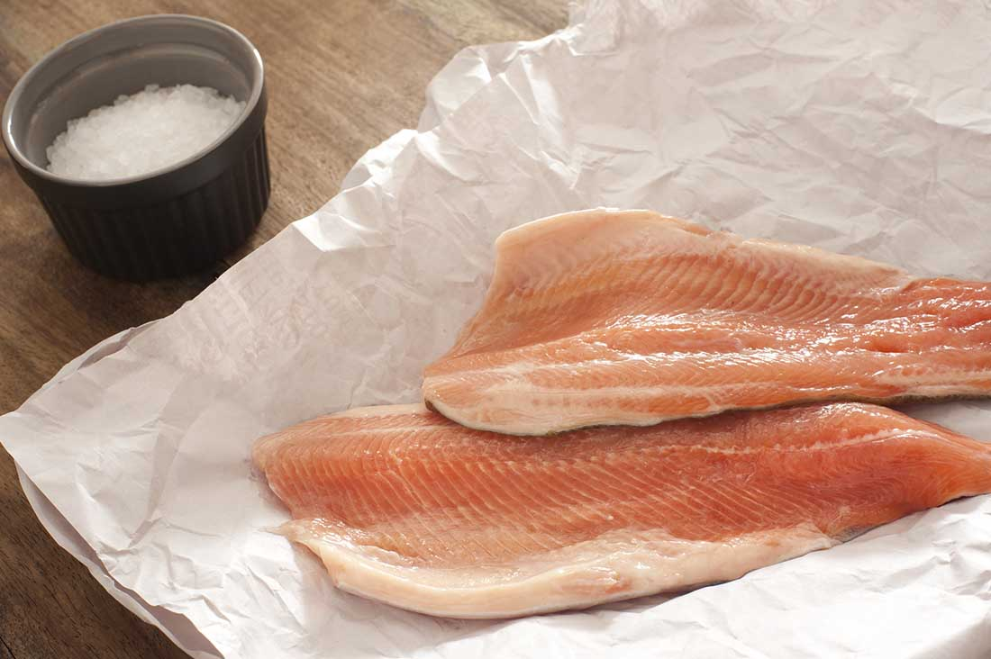Low carb foods high in fat - trout
