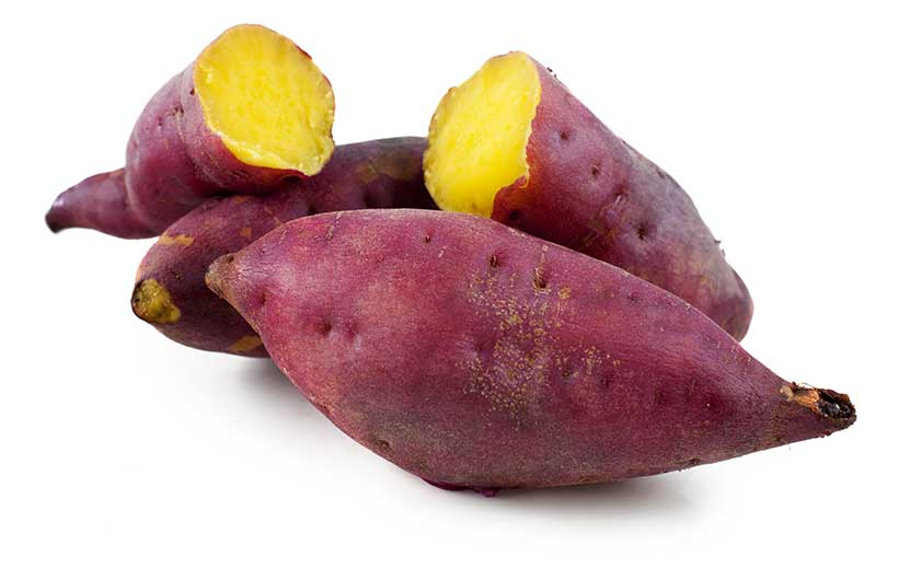 Picture of some sweet potatoes, a great source of vitamin A.