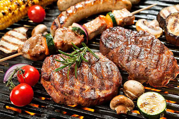 Picture of various grilled meats