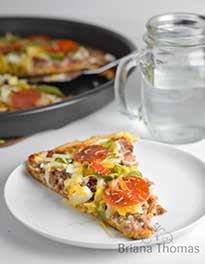 Low Carb Pizza by Briana Thomas