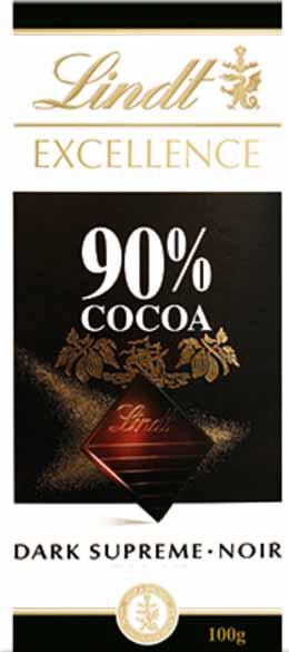 Picture of lindt dark chocolate - 90% cocoa