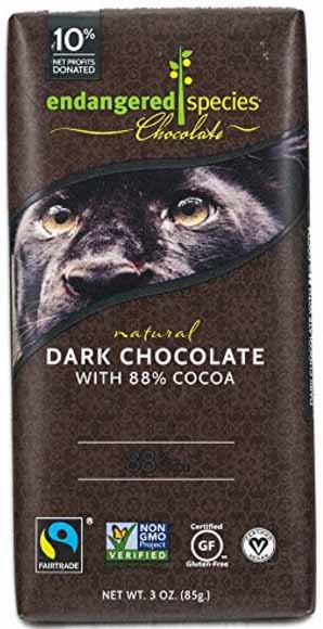 Endangered Species 88% Dark Chocolate