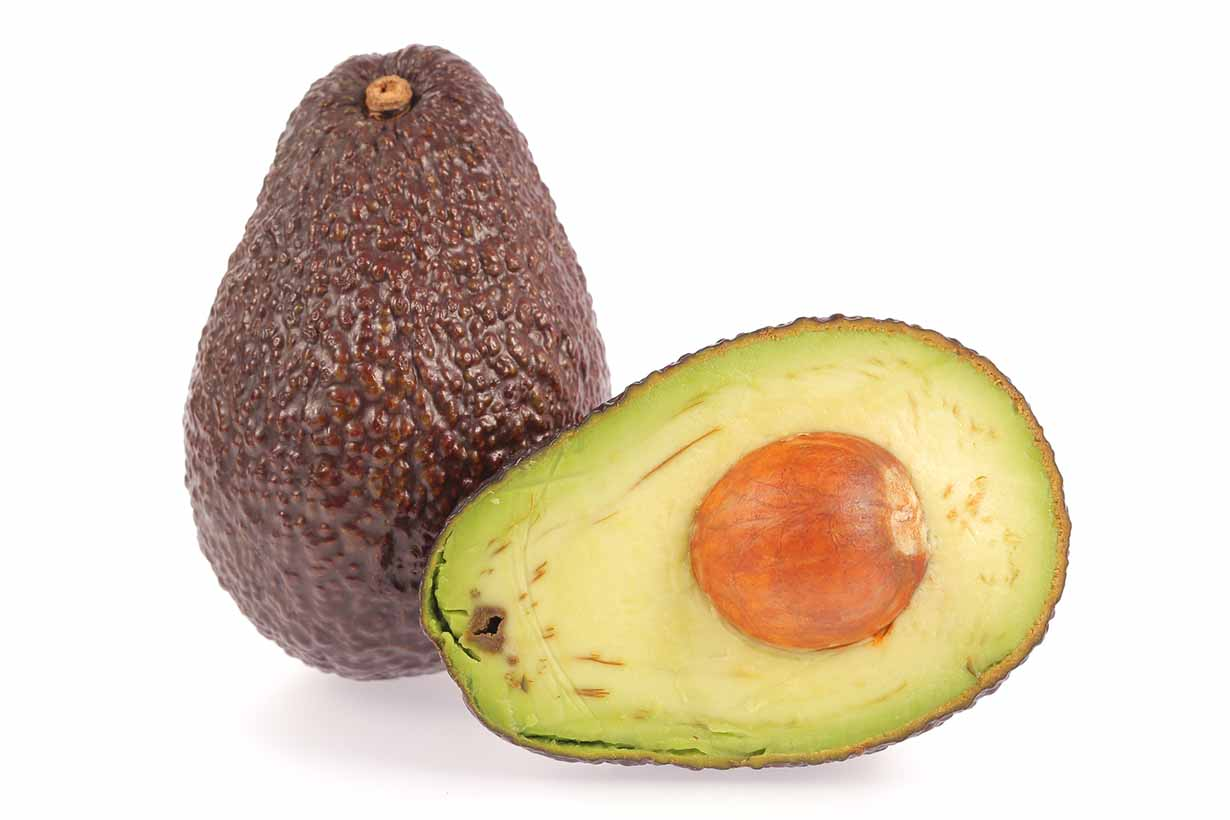 Picture of an avocado with browning.