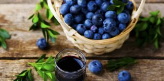 Picture of blueberry wine