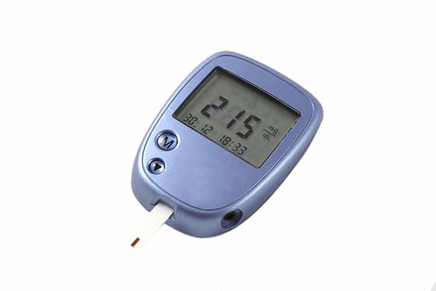 Picture of a diabetes glucometer.