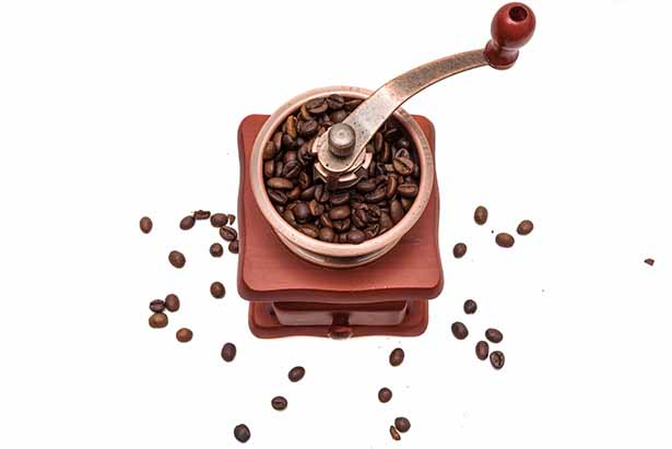 Picture of a coffee grinding machine