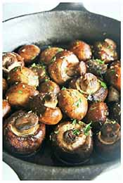 Picture of steakhouse style sauteed mushrooms