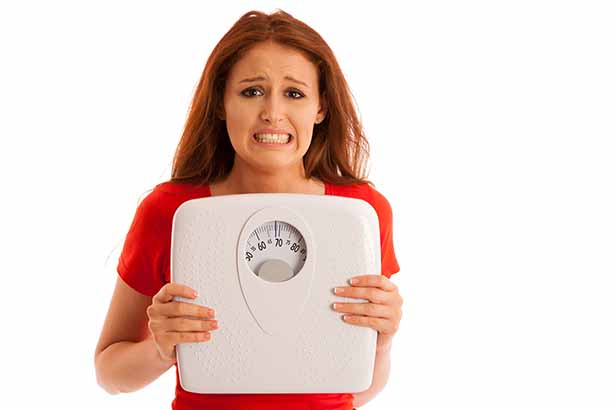 Picture of an unhappy woman - crash diets unsustainable theme