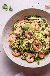 Picture of garlic shrimp noodles