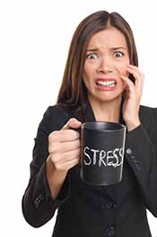 Picture of a woman feeling stressed out