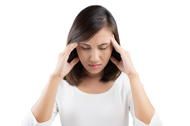 Picture Showing a Girl Suffering From Dizziness.
