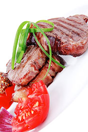 Meat and Veg: A Typical Meal Option