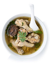 Picture of chicken soup - a possible keto lunch
