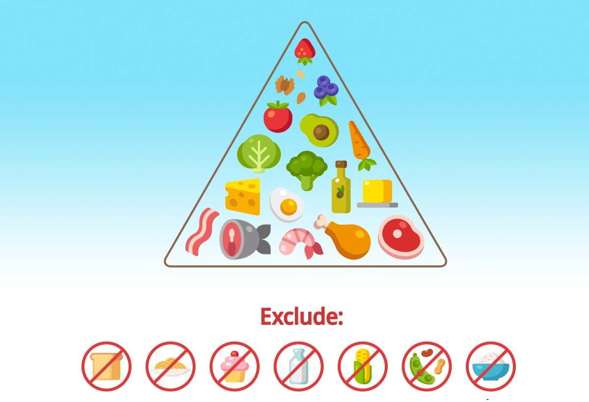 graphic regarding Keto Food Pyramid Printable named Keto Searching Checklist (With the Carb Depend For Every single Food items)