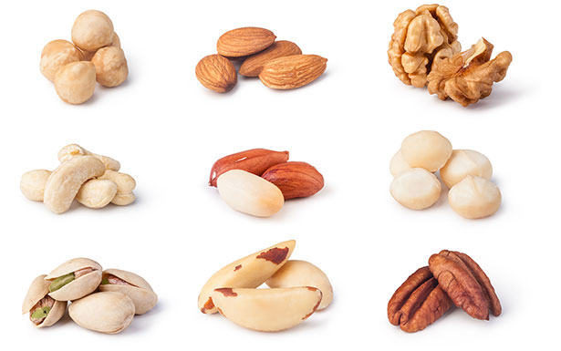 Picture of nuts for a keto shopping list