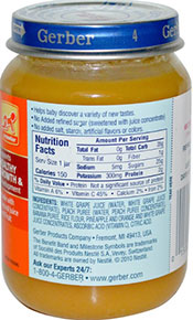 Picture showing the sugar content in baby food jars.