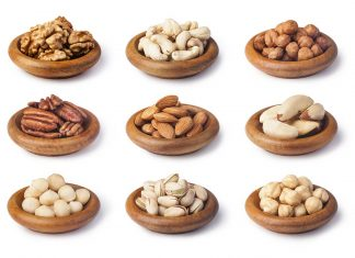Picture of different types of nuts