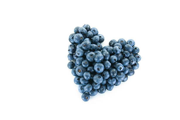 Picture of a blueberry heart to represent foods for an anti-inflammatory diet.
