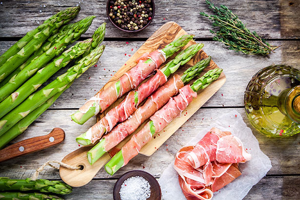 Picture of Prosciutto and Asparagus Spears. There Are Many Different Prosciutto Recipes.