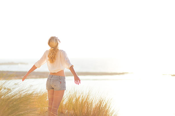 Picture of a Girl Getting Some Sun; Sunlight is Important for Lowering Inflammation