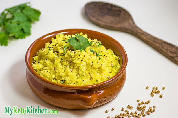 """Picture of """"Keto Indian Rice"""" made With Cauliflower"""