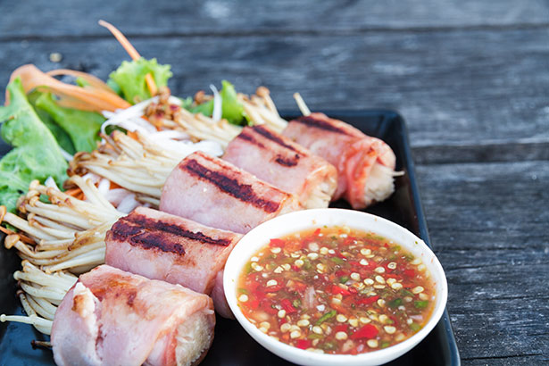 Picture of Bacon-Wrapped Enoki Mushrooms - Recipe