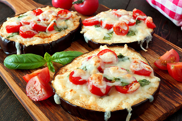 Picture of Eggplant Slices With Tomato and Parmesan