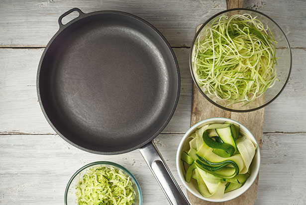 Picture of Zucchini Noodles (Zoodles), Which Are Popular Keto Side Dishes.