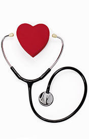 Picture of a heart and a stethoscope.