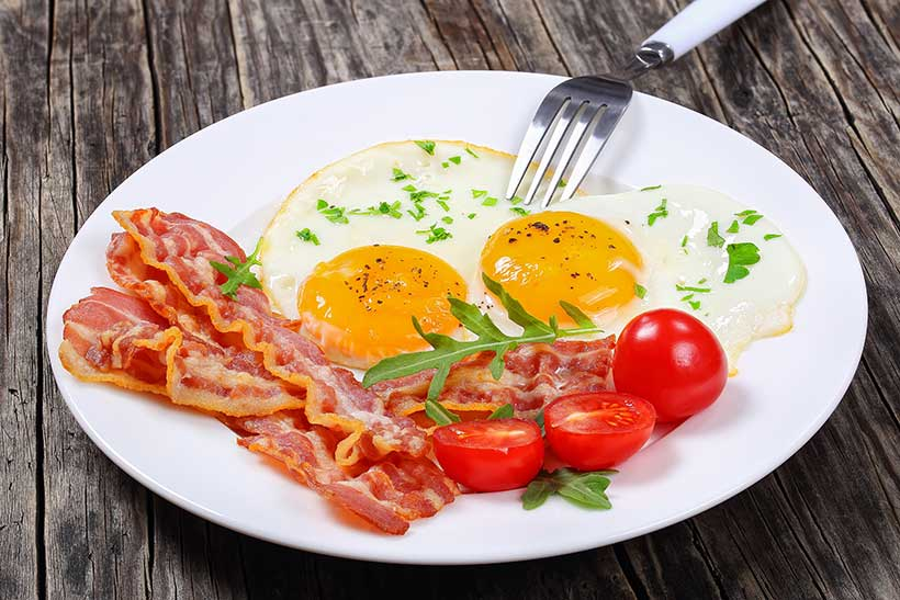 Bacon and Eggs is a Quick Protein Rich Meal