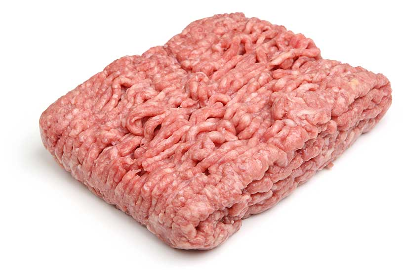 A Block of Ground Lamb Meat (Mince).