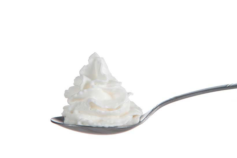 Non-Dairy Whipped Cream Made From Vegetable Oils.