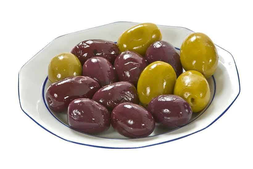 Picture of Alfonso Olives on a Small Plate.
