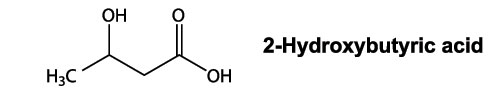 The Chemical Formula for Beta-Hydroxybutyrate.