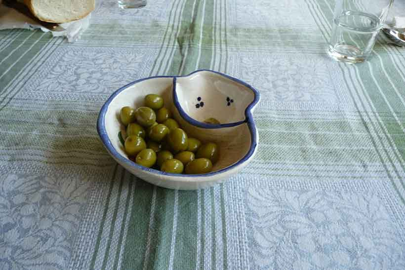 A Bowl of Spanish Verdial Olives.
