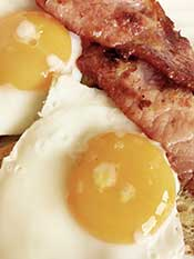 Picture of Bacon and Eggs - Typical Low Carb Breakfast.