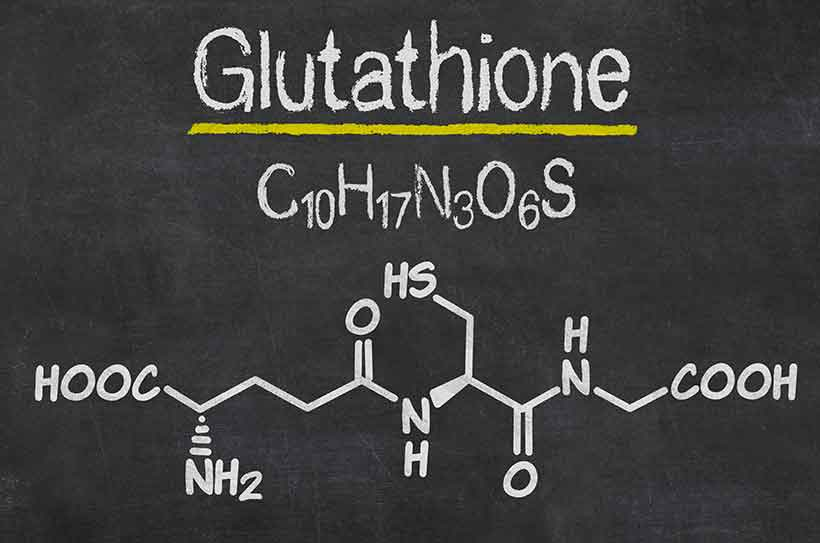 Diagram Showing the Chemical Structure of Glutathione.
