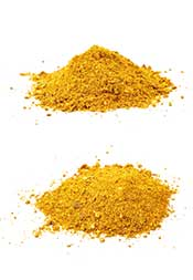 A Serving of Curry Powder on a White Surface.