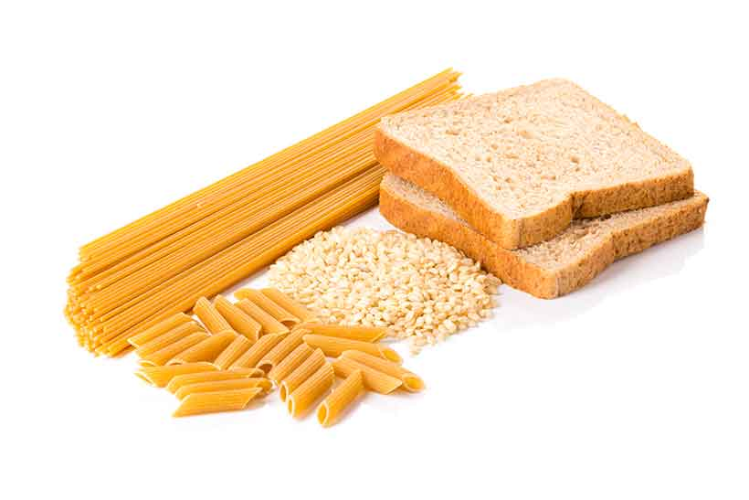 Bread, Spaghetti, Flour and Pasta All Together.