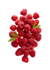 A Clump of Fresh Raspberries,