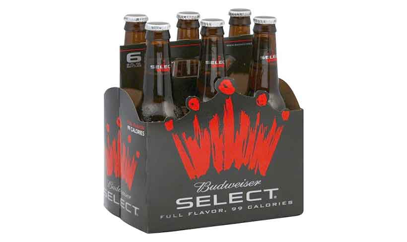 A 6-Pack of Budweiser Select Bottled Beers,
