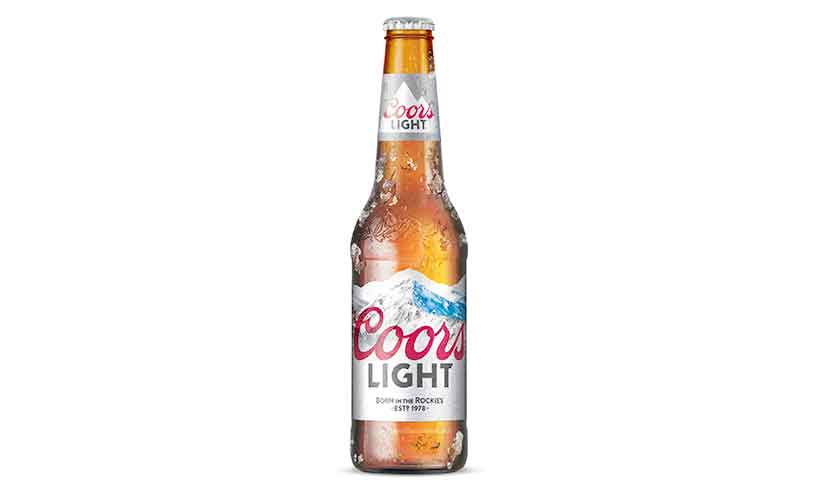 A Brown Glass Bottle of Coors Light Beer.