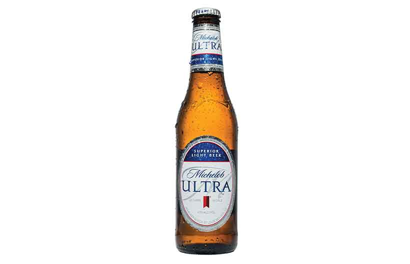 Bottle of Michelob Ultra Low Carb Beer.