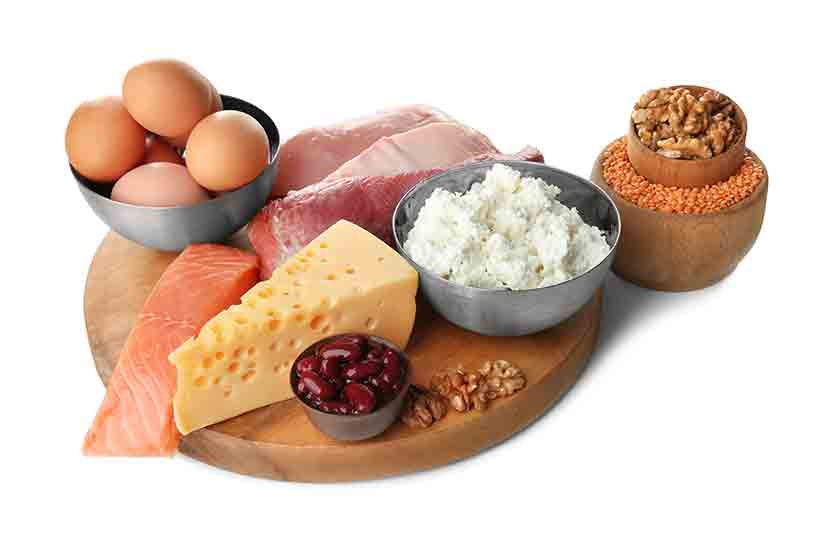 Various Types of Protein On a Platter.